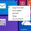 Mausoperationen auf dem Windows Startscreen