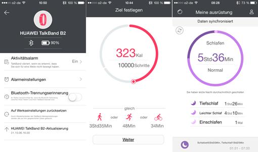 App Huawei Wear auf dem iPhone