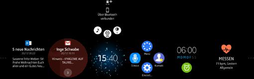 Samsung Gear S2 Ebenen