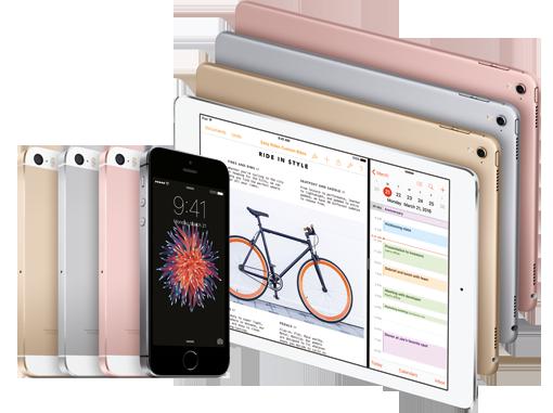 iPhone SE und iPad Pro in 9,7 Zoll – alle Farben