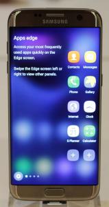 S7 Edge-Bildschirm