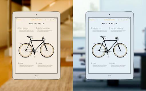 Anpassung an das Umgebungslicht beim iPad Pro in 9,7 Zoll